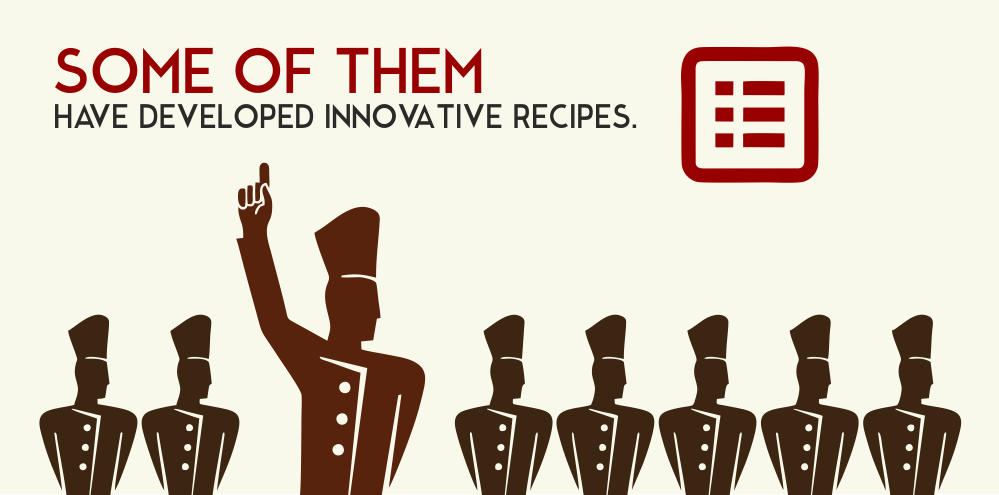 Some of them have developed innovative recipes.